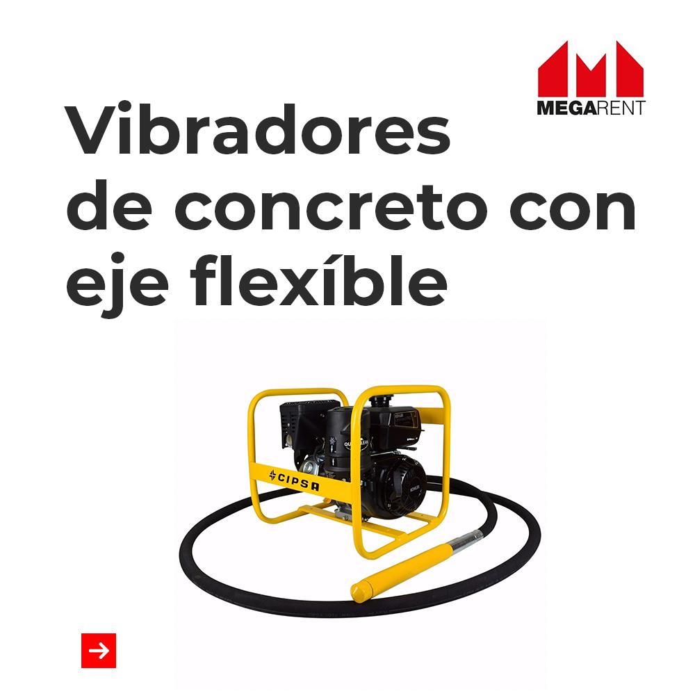 Vibradores de concreto con eje flexible